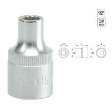 "YATO BI-Hexogonal Socket 20mm 1/2"" 12PT CV  Regular YT1282"