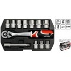 """YATO Ratchet Socket Tool Set 1/2"""" 12pcs YT3867"""