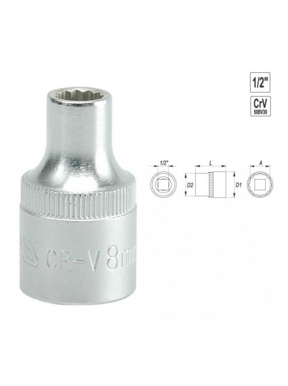 "YATO BI-Hexogonal Socket 13mm 1/2"" 12PT CV  Regular YT1275"