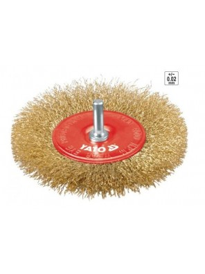 YATO Circular Brass Brush With Shaft YT4757
