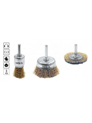 YATO Cup Brush With Shaft Set YT4755