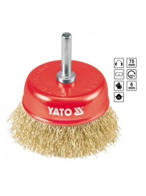 YATO Cup Brush With Shaft  YT4750