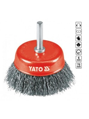YATO Cup Brush With Shaft  YT4751