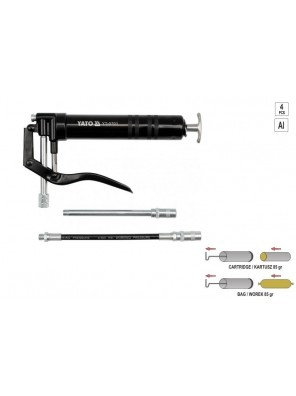 YATO Lever Action Grease Gun With Rigid Spout 120CC YT0701