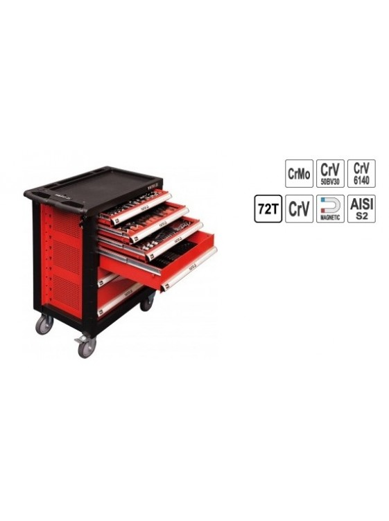 YATO Professional 6 Drawer Roller Cabinet With Tools YT5530