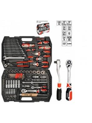 "YATO Tool Set 1/4"", 1/2"" 122pcs YT3890"