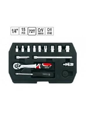 "YATO Tool Socket Set 1/4"" 15pcs YT1444"
