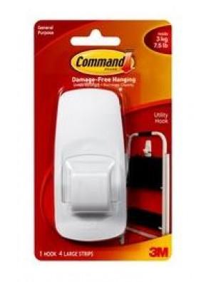 COMMAND JUMBO HOOKS, HOLD UP TO 3KG CODE:17004