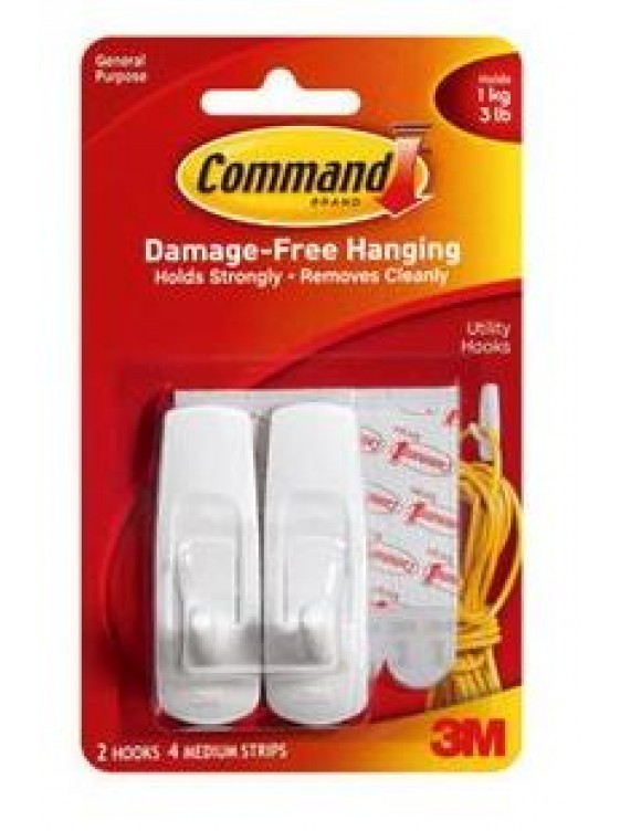 COMMAND Medium Hooks ,Hold up to 1KG CODE:17001ANZ