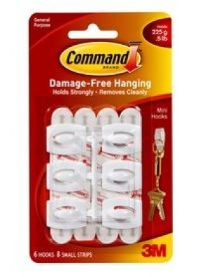COMMAND Mini Hooks, Hold Up to 225g CODE:17006
