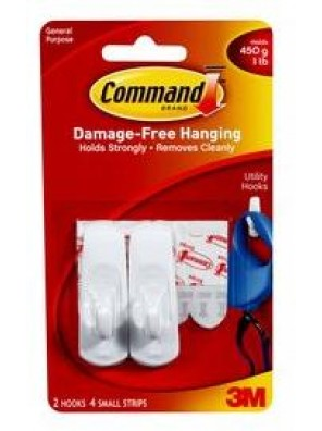 COMMAND Small Hooks, Hold Up To 450G CODE:17002