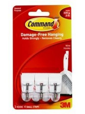 COMMAND Utensil Hooks , Hold Up to 225G CODE:17067ANZ