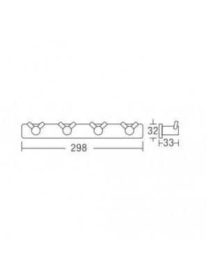 AIMER Brass Chrome Cloth Hook (Twin) - AMBA-001/4