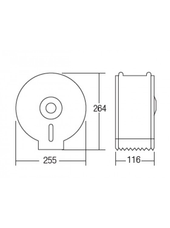 AIMER S/S SUS 304 Jumbo Roll Paper Dispenser AMBA-265