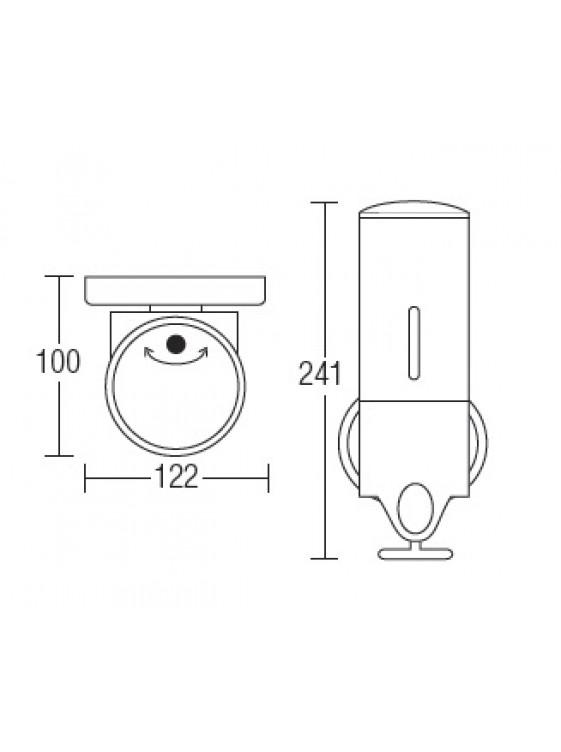 AIMER ABS S.Chrome Single Soap Dispenser  500ml AMBA-241