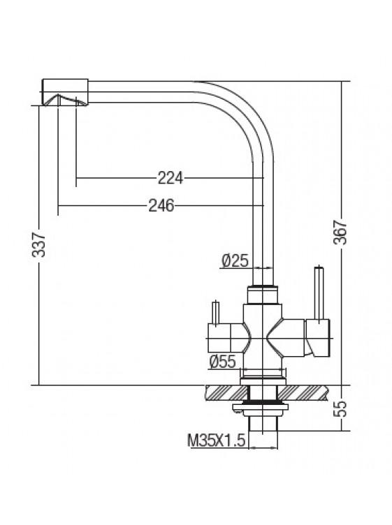 AIMER Kitchen Pillar Sink Mixer with Filter Tap AMPM-80101