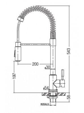 AIMER  Flexible Hose Kitchen Pillar Sink Mixer AMPMX-81229