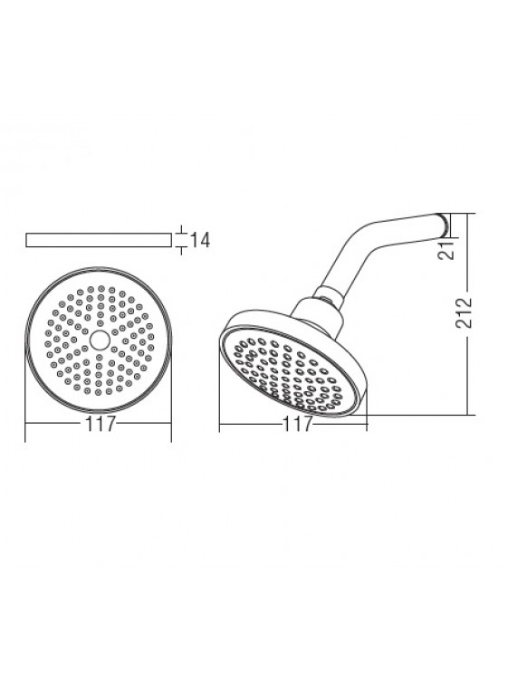 "AIMER  Shower 4""  With Arm AM-SH303"