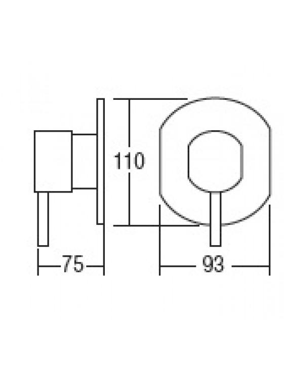 AIMER Brass Chrome Concealed Bath Shower Mixer AMMX-89215