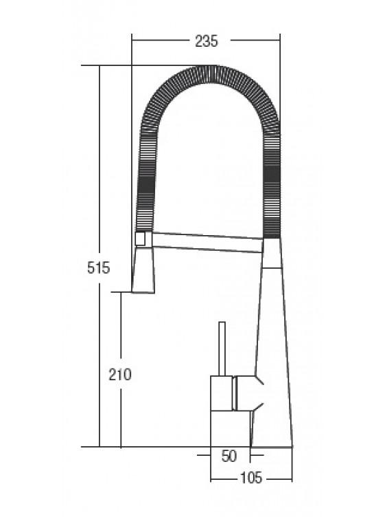 AIMER  Flexible Hose Kitchen Pillat Sink Mixer AMMX-86201
