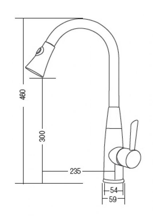AIMER Flexible Hose Kitchen Pillar Sink Mixer AMMX-86202
