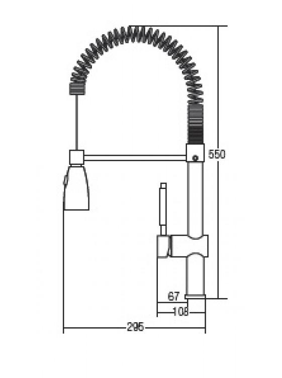 AIMER B/Chrome Flexible Hose Pillar Sink Mixer AMMX-10230
