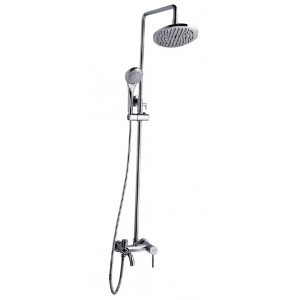 AIMER Brass Chrome 3 Way Expose Shower Set AMMX-5230