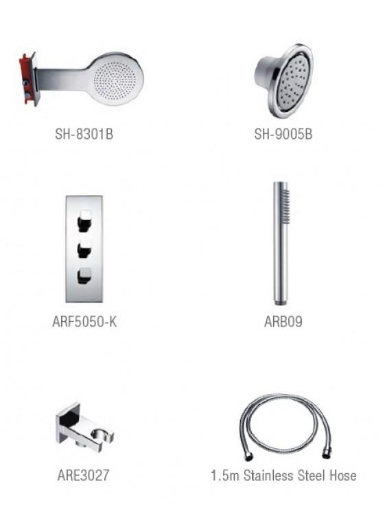 AIMER Brass Chrome Shower Set AMSS-5049B