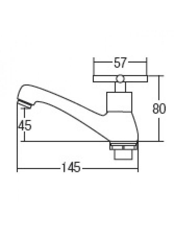 AIMER Brass Chrome Basin Pillar Tap AMFC-2355