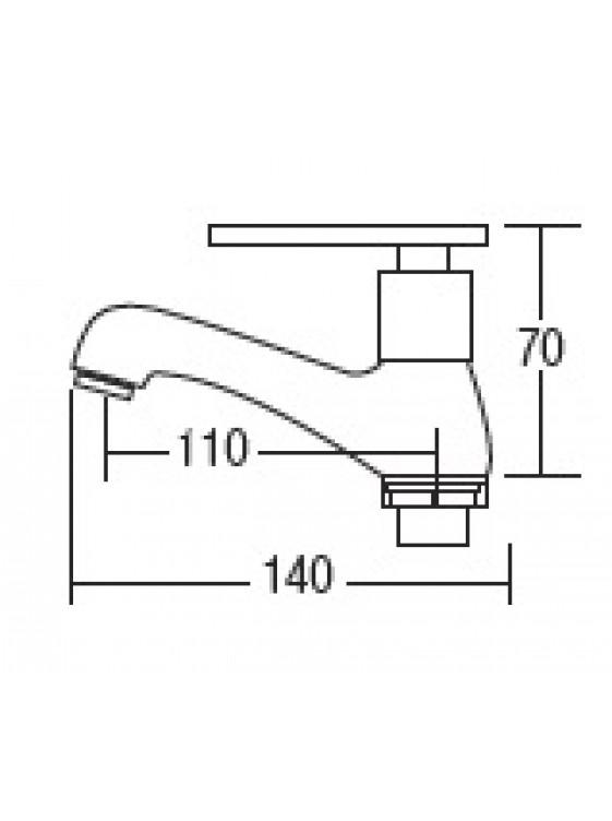 AIMER Brass Chrome Basin Pillar Tap AMFC-3404