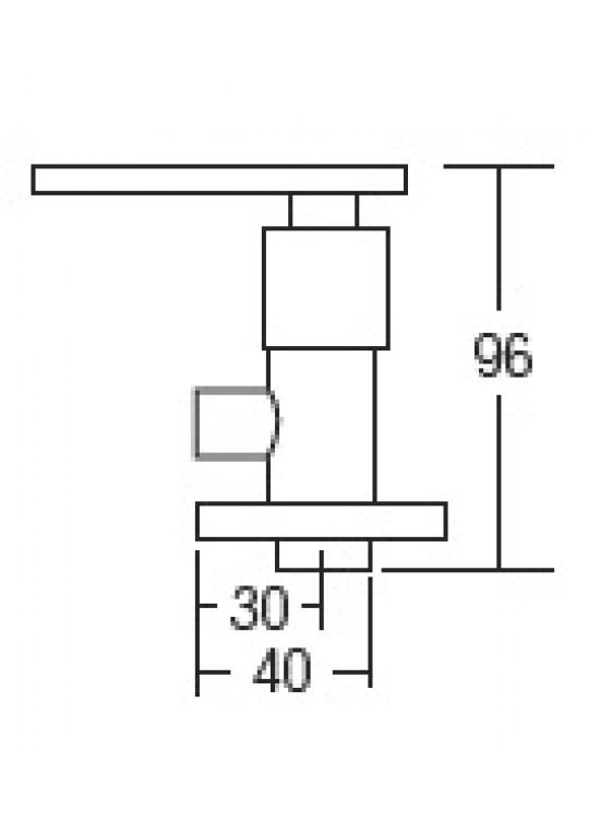 "AIMER 1/2"" Brass Chrome Angle Valve AMAV-3405"