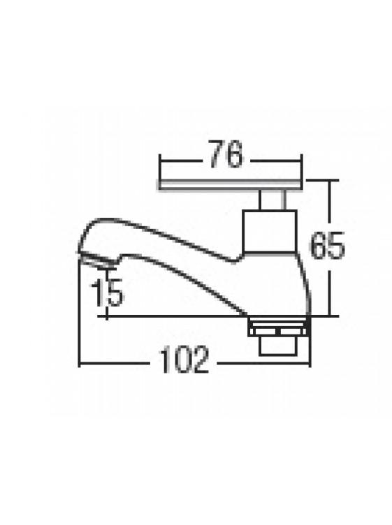 AIMER Brass Chrome Basin Pillar Tap AMFC-3654