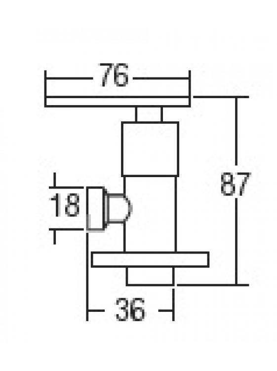 "AIMER 1/2"" Brass Chrome Angle Valve AMAV-3656"