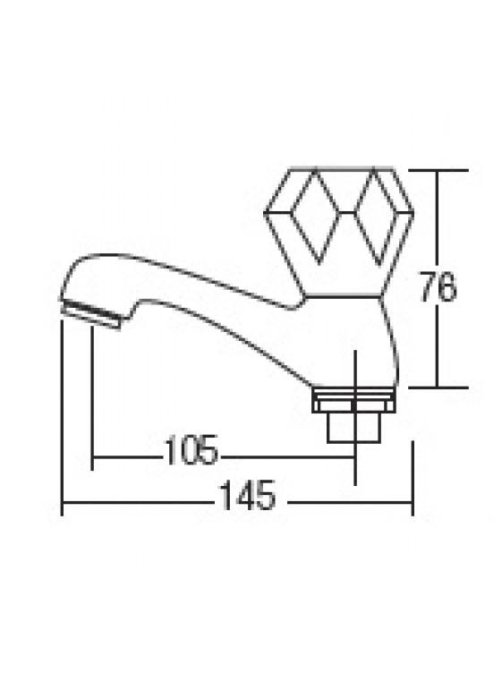 AIMER Brass Chrome Basin Pillar Tap AMFC-6035