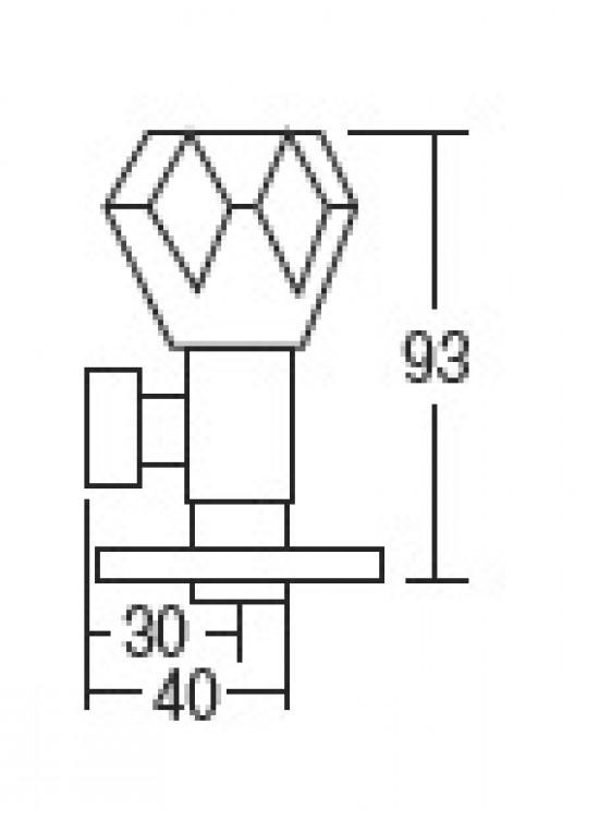 "AIMER 1/2"" Brass Chrome Angle Valve AMAV-6036"
