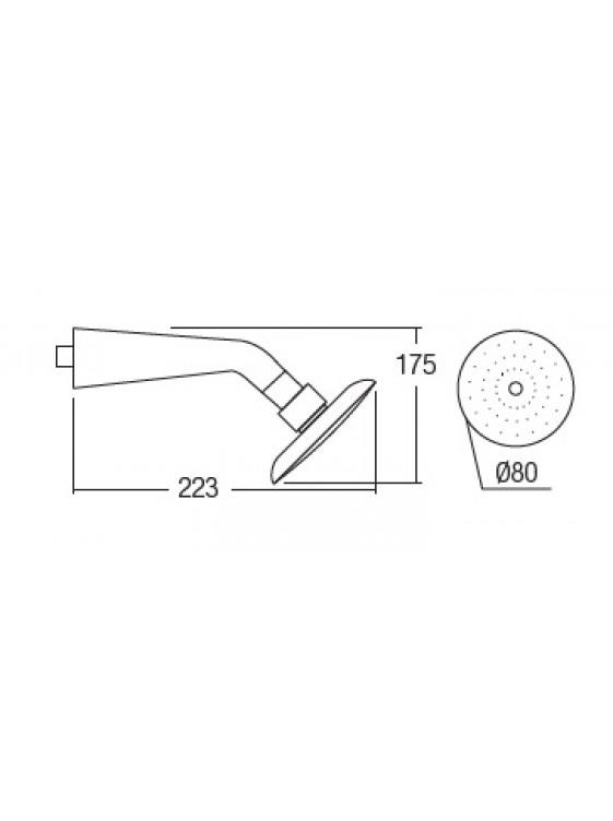 AIMER ABS Chrome Rain Shower With Arm (1 Function) AMSH-603