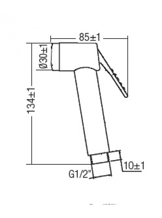 AIMER  Satin Nickel Spray Bidet Set c/w S/S Hose AMSB-50/SN