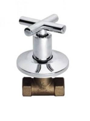 "AIMER 1/2"" Brass Chrome Stop Valve AMSV-2306"