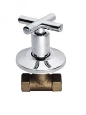 "AIMER 1"" Brass Chrome Stop Valve AMSV-2308"