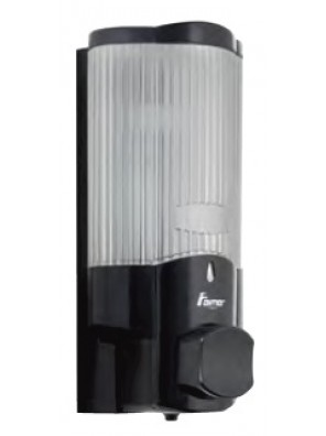 AIMER ABS Black Single Soap Dispenser (Push)350ml AMBA-186