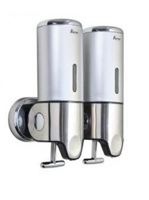 AIMER ABS Satin Chrome Double Soap Dispenser (Pull)AMBA-242
