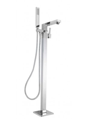 AIMER B/Chrome Floor Standing Shower Rail Set Mixer AMMX-R09