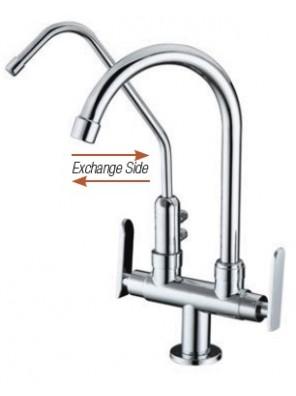 AIMER B/Chrome Kitchen Pillar Sink Tap c/w Filter AMFC-3660F