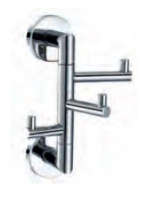 AIMER Brass Chrome 3 Swivel Hook Towel Rack AMBA-3120