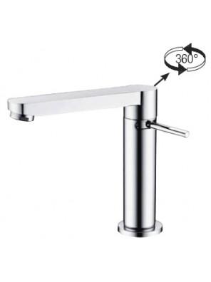 AIMER Brass Chrome Basin Pillar Tap AMFC-2703