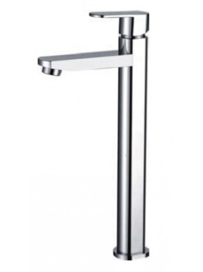 AIMER Brass Chrome Basin Pillar Tap Cold  (Tall) AMFC-5002