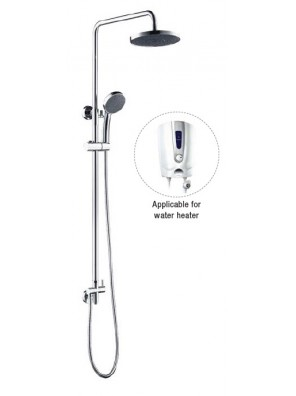 AIMER Brass Chrome Bath Shower Set (Water Heater) AMSP-5260