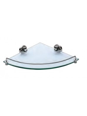 AIMER Brass Chrome Corner Glass Shelf Size:355mm AMBA-301
