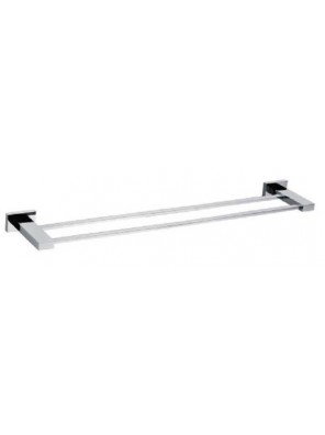 AIMER Brass Chrome Double Towel Rail 600mm AMBA-83804