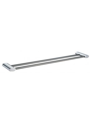 AIMER Brass Chrome Double Towel Rail 750mm AMBA-7504/750